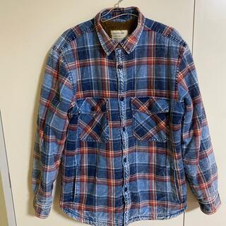 BAYFLOW - BAYFLOW ウラボアインディゴ チェックシャツ