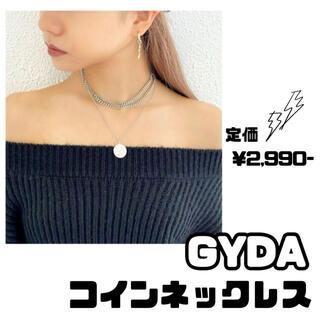 GYDA - GYDA 3連 チェーン wrong コイン ネックレス