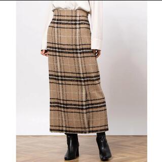 Mila Owen - 新品チェックロングスカート*送料込み