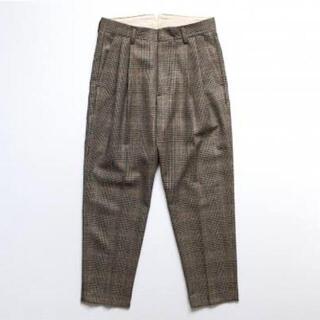 COMOLI - stein チェック パンツ