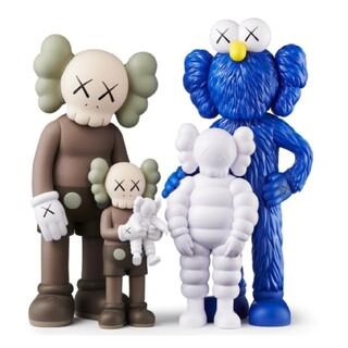 MEDICOM TOY - KAWS FAMILY BROWN/BLUE/WHITE #1 メディコムトイ