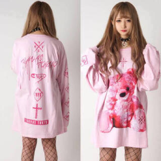 TRAVAS TOKYO FURRY BEAR ロンT ピンク milkboy