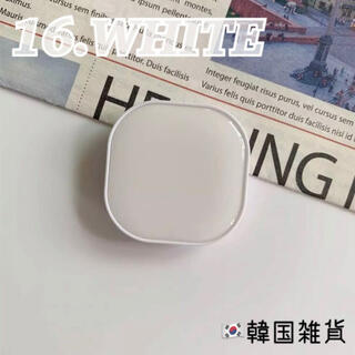 ♡16.ホワイト♡ポップソケット スマホケース スマホグリップ 韓国雑貨(その他)