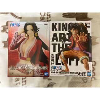 BANDAI - 【最新作】ワンピース ルフィ、ボア・ハンコック フィギュア