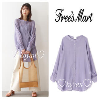 FREE'S MART - フリーズマート/シアーレースアップチュニックシャツ/パープル