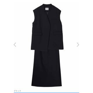 Ameri VINTAGE - Ameri OTONA WRAP VEST SET UP DRESS 黒 S