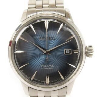 SEIKO - セイコー プレサージュ 腕時計 自動巻き 4R35-01T0 シルバー ブルー系