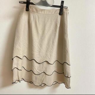 NATURAL BEAUTY BASIC フリル付きスカート(ひざ丈スカート)