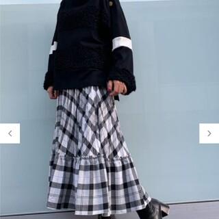 GRACE CONTINENTAL - グレースコンチネンタルラメチェックプリーツスカート