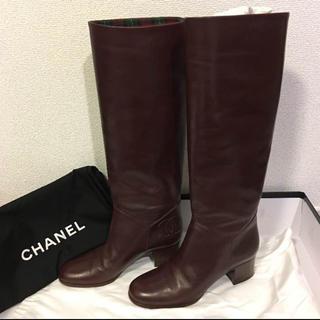 シャネル(CHANEL)の日本未入荷☆美品☆シャネル☆ロングブーツ(ブーツ)