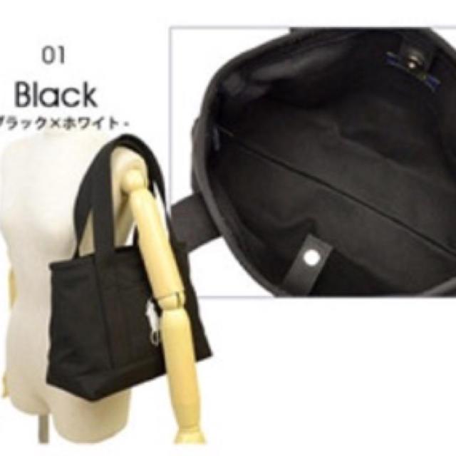 Ralph Lauren(ラルフローレン)の正規品♡POLO ラルフローレン トートバック♡ブラック レディースのバッグ(トートバッグ)の商品写真