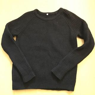 ムジルシリョウヒン(MUJI (無印良品))の美品 無印良品 紺ラグランセーター(ニット/セーター)