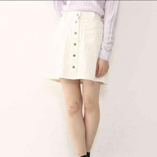 ワンアフターアナザーナイスクラップ(one after another NICE CLAUP)のNICE CLAUP コーデュロイスカート ホワイト(ミニスカート)
