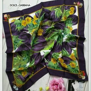 ドルチェアンドガッバーナ(DOLCE&GABBANA)の限定セール◆DOLCE&GABBANA 定価4.3万 新品タグ付◆絹 スカーフ(バンダナ/スカーフ)