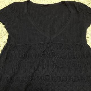 サバーゼ(sabase)のオシャレ、デザインニット 重ね着に ワールド サバーゼ(ニット/セーター)
