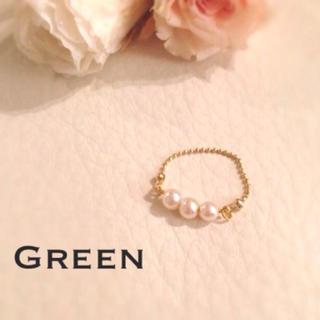 ホワイトパールのゴールドリング♡(リング(指輪))
