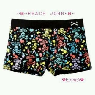 ピーチジョン(PEACH JOHN)の新品PEACE JOHN スカル ボクサーパンツ ボクパン ショートパンツ 肌着(ボクサーパンツ)