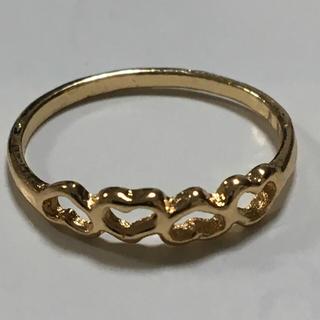 海外 プチ ゴールド 4 ハート シェープ リング 12号(リング(指輪))