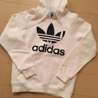 adidas , 売り切れ。。。adidas☆パーカー白の通販 by にゃろ\u0027s shop|アディダスならラクマ