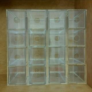 ムジルシリョウヒン(MUJI (無印良品))の小物収納 無印良品 アクリルメガネ・小物ケース 4個セット(小物入れ)
