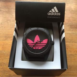 アディダス(adidas)の【アディダス 腕時計 黒 ピンク(腕時計(アナログ))