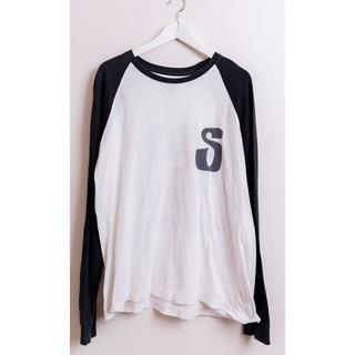 ステューシー(STUSSY)のSTUSSY ステューシー ラスタデザイン ラグラン Tシャツ Lサイズ(Tシャツ/カットソー(七分/長袖))