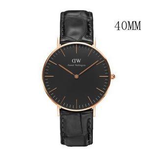 ダニエルウェリントン(Daniel Wellington)のダニエルウェリントン新品ピンクゴールド×ワニブラック40MM「ラッピング無料 」(腕時計(アナログ))