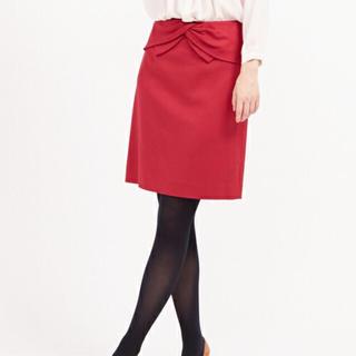 デミルクスビームス(Demi-Luxe BEAMS)の新品タグ付き Demi-Luxe BEAMS / フロントリボン タイトスカート(ひざ丈スカート)