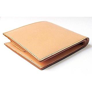 ムジルシリョウヒン(MUJI (無印良品))の新品 MUJI イタリア産ヌメ革パスケース付二つ折り財布 (折り財布)