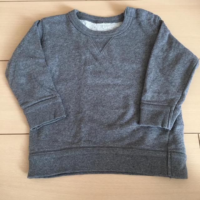 MUJI (無印良品)(ムジルシリョウヒン)の無印良品キッズ トレーナー 80 キッズ/ベビー/マタニティのベビー服(~85cm)(トレーナー)の商品写真