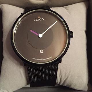 ヌーン(noon)のnoon copenhagen(ヌーン コペンハーゲン)腕時計 ブラック(金属ベルト)