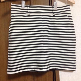 ローリーズファーム(LOWRYS FARM)の♡ボーダータイトスカート(ミニスカート)