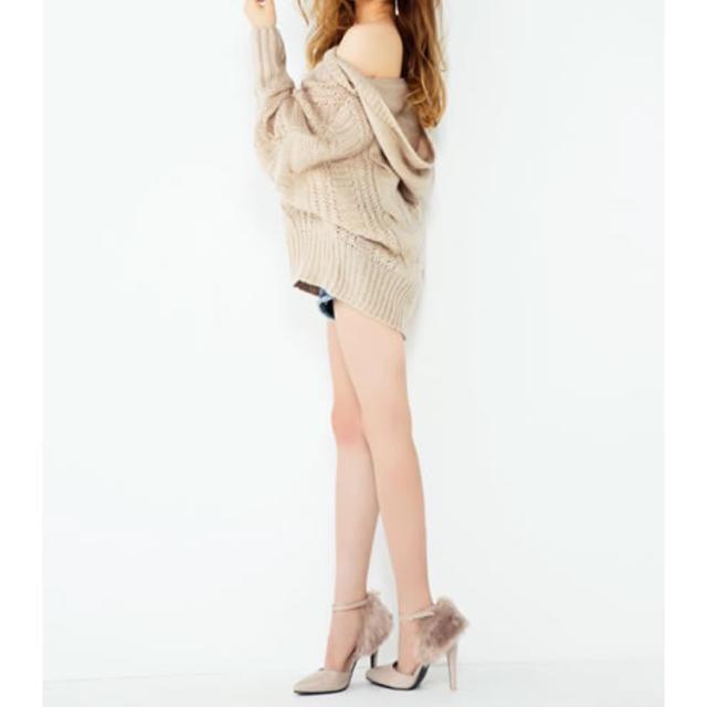 GRL(グレイル)のGRL ファーセパレートパンプス グレー レディースの靴/シューズ(ハイヒール/パンプス)の商品写真
