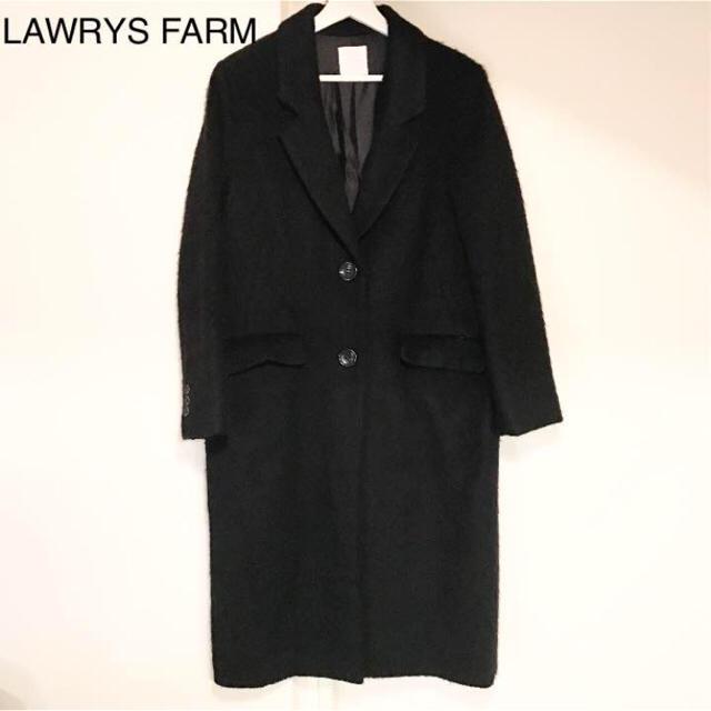 LOWRYS FARM(ローリーズファーム)のLAWRYS FARM ブラックチェスターコート♡ レディースのジャケット/アウター(チェスターコート)の商品写真