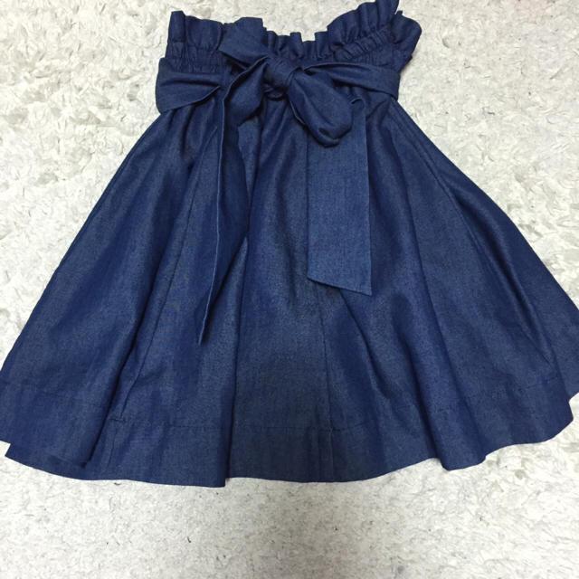 one after another NICE CLAUP(ワンアフターアナザーナイスクラップ)のnice claup デニムスカート レディースのスカート(ミニスカート)の商品写真