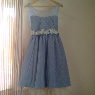 ウィルセレクション(WILLSELECTION)のブルーのドレス(ミディアムドレス)