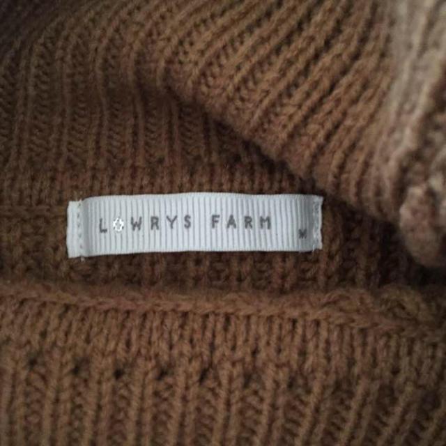 LOWRYS FARM(ローリーズファーム)のローリーズファーム タートルネック ニット ブラウン M レディースのトップス(ニット/セーター)の商品写真