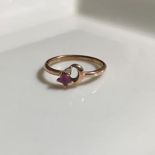美品★ピンクゴールド★ピンキーリング(リング(指輪))