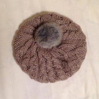 アースミュージックアンドエコロジー(earth music & ecology)のearth♡ニットベレー帽(美品)(ハンチング/ベレー帽)