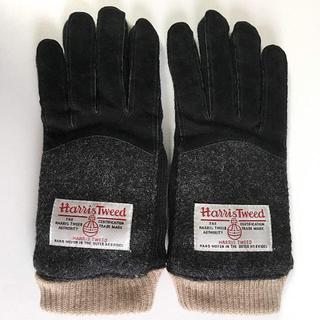 シマムラ(しまむら)の新品【しまむら×ハリスツイード】スマホ対応手袋  ブラック(手袋)