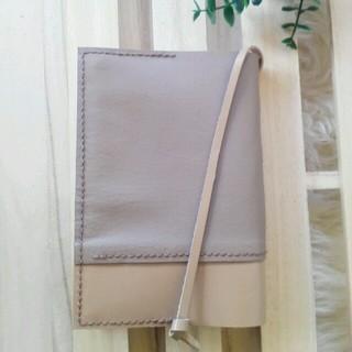 文庫本 革で作ったブックカバー しおり付き 送料込み(ブックカバー)