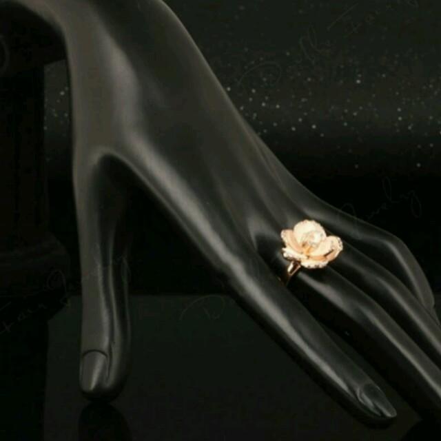 SALE⭐リング 指輪 ローズ バラ 薔薇 ダイヤモンド キラキラ アクセサリー レディースのアクセサリー(リング(指輪))の商品写真