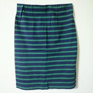 シェル(Cher)のcherボーダータイトスカート(ひざ丈スカート)
