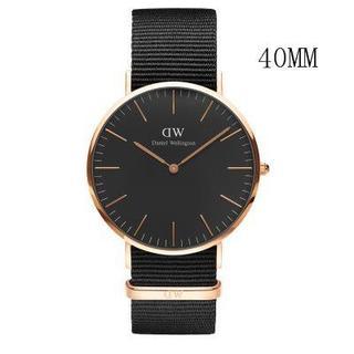 ダニエルウェリントン(Daniel Wellington)のダニエルウェリントン新品ピンクゴールド×ブラック40MMナイロン「ラッピング無料(腕時計(アナログ))