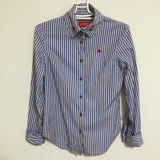 ヴィヴィアンウエストウッド(Vivienne Westwood)のvivienne westwood ストライプ デザインシャツ(シャツ/ブラウス(長袖/七分))