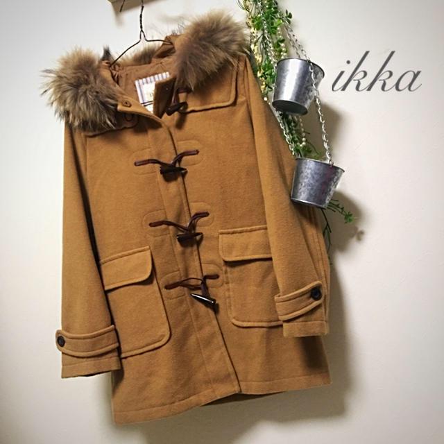 ikka(イッカ)の🔸🌿ikka🌿🔸 リアルファー付きダッフルコート L