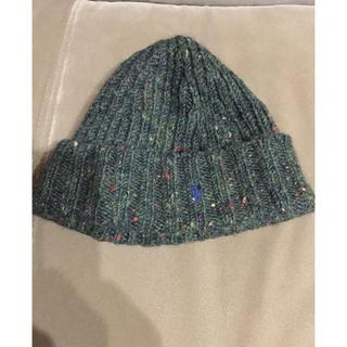 ラルフローレン(Ralph Lauren)のレア 美品ポロ ラルフローレン 黒 ポニー刺繍 ニット帽 ビーニー(ニット帽/ビーニー)
