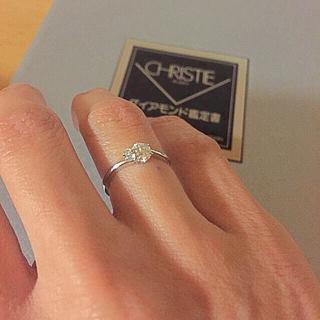ダイヤモンド鑑定書付き 0.4カラット 7号プラチナダイヤ指輪(リング(指輪))