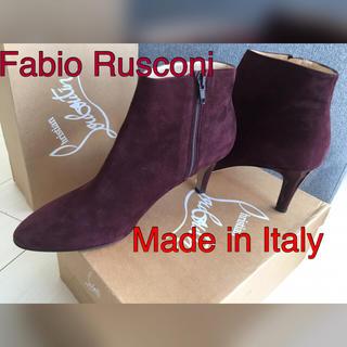 セルジオロッシ(Sergio Rossi)の売り切れ 新品 イタリア製 Fabio Rusconi スウェード 革(ブーツ)