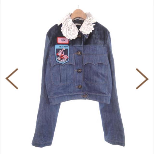 miumiu(ミュウミュウ)のmiumiu❤️2016AWデニムJK レディースのジャケット/アウター(Gジャン/デニムジャケット)の商品写真
